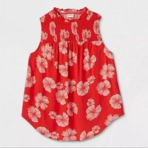 Ava & Viv Tank Top Floral Sleeveless Blouse Summer